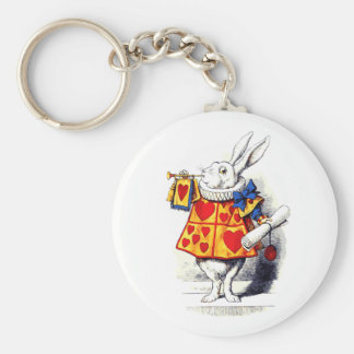 Alice in Wonderland The White Rabbit by Tenniel Keychain
