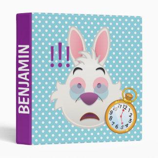 Alice In Wonderland  | The White Rabbit Emoji Binder