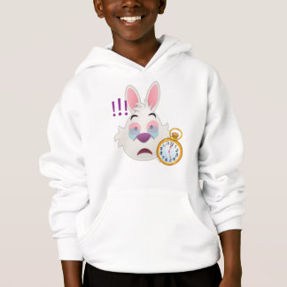 Alice In Wonderland  | The White Rabbit Emoji Hoodie