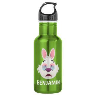 Alice In Wonderland  | The White Rabbit Emoji Stainless Steel Water Bottle