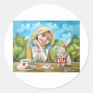 Alice in wonderland the white rabbit Gordon Bruce Classic Round Sticker
