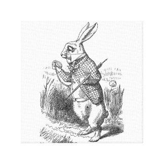 Alice in Wonderland the White Rabbit vintage Canvas Print