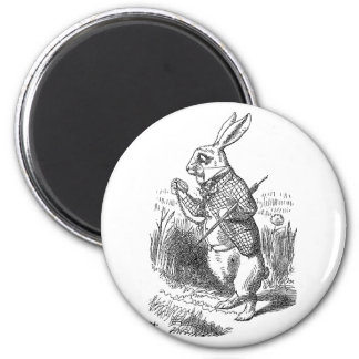 Alice in Wonderland the White Rabbit vintage Magnet