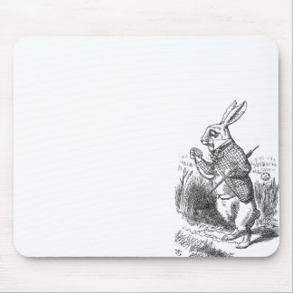 Alice in Wonderland the White Rabbit vintage Mouse Pad