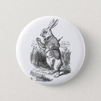 Alice in Wonderland the White Rabbit vintage Pinback Button