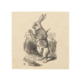 Alice in Wonderland the White Rabbit vintage Wood Wall Decor