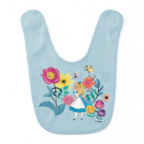 Alice in Wonderland | The Wonderland Flowers Baby Bib