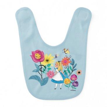 Disney Themed Alice in Wonderland | The Wonderland Flowers Baby Bib