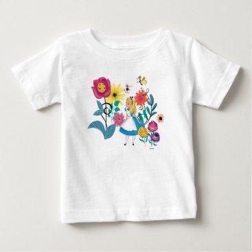 Disney Themed Alice in Wonderland | The Wonderland Flowers Baby T-Shirt