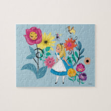 Alice in Wonderland | The Wonderland Flowers Jigsaw Puzzle