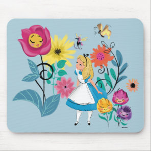 Alice in Wonderland   The Wonderland Flowers Mouse Pad