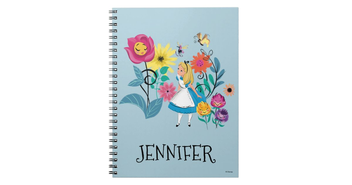 Alice In Wonderland The Wonderland Flowers Notebook Zazzle Com