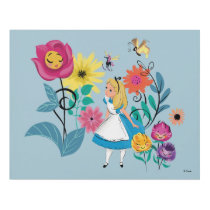 Alice in Wonderland | The Wonderland Flowers Panel Wall Art
