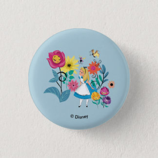 Alice in Wonderland | The Wonderland Flowers Pinback Button