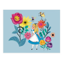 Alice in Wonderland | The Wonderland Flowers Postcard