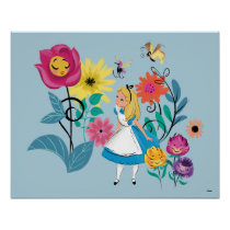 Alice in Wonderland | The Wonderland Flowers Poster
