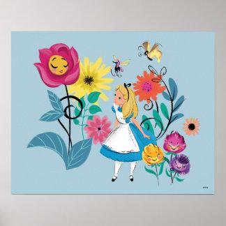 Alice in Wonderland | The Wonderland Flowers Poster