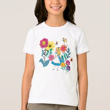 Disney Themed Alice in Wonderland | The Wonderland Flowers T-Shirt