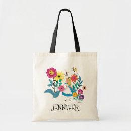 Alice in Wonderland   The Wonderland Flowers Tote Bag