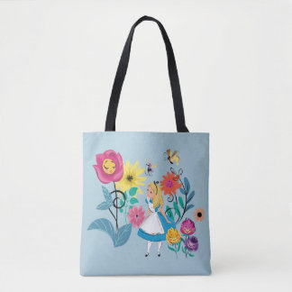 Alice in Wonderland | The Wonderland Flowers Tote Bag