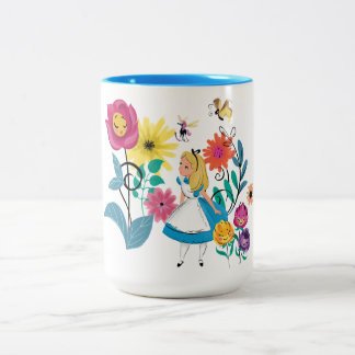 Alice in Wonderland | The Wonderland Flowers Two-Tone Coffee Mug