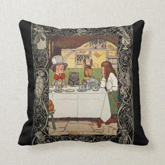 Alice In Wonderland Third Of Four Throw Pillow