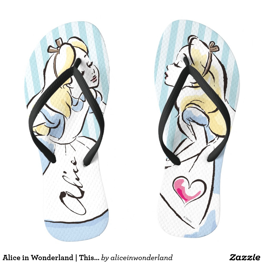 Alice in Wonderland | This Way to Wonderland Flip Flops