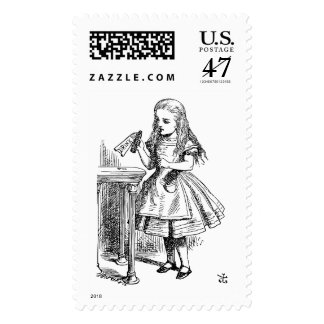 Alice In Wonderland - Through the Looking Glass Postage Stamp