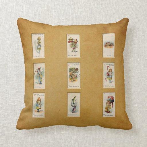 Alice in Wonderland Throw Pillows