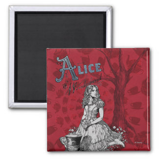 Alice in Wonderland - Tim Burton Magnet