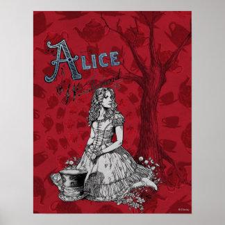 Alice in Wonderland - Tim Burton Poster