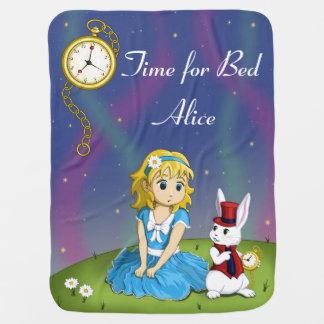 """Alice in Wonderland """"Time for Bed"""" Blanket"""