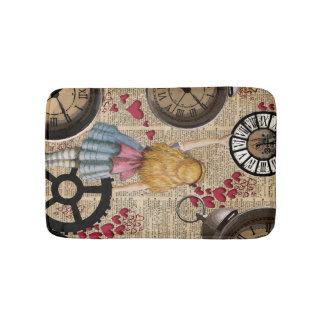 Alice In Wonderland Travelling in Time Bathroom Mat. Alice Wonderland Bath Mats   Zazzle