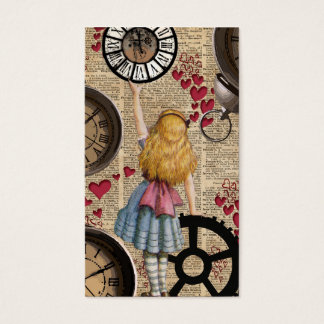 Alice In Wonderland Travelling in Time Business Card