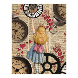 Alice In Wonderland Travelling in Time Flyer