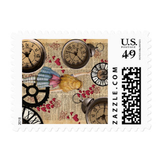 Alice In Wonderland Travelling in Time Postage