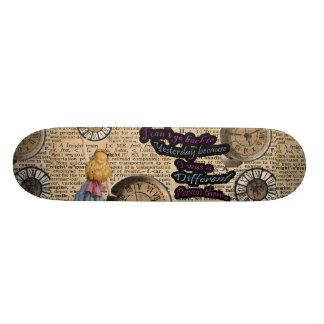 Alice In Wonderland Travelling in Time Skateboard