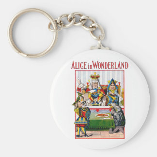 Alice in Wonderland - Trial of the Knave of Hearts Basic Round Button Keychain