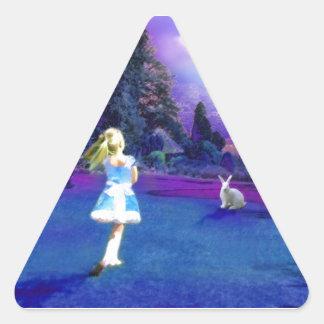 Alice in Wonderland Triangle Sticker