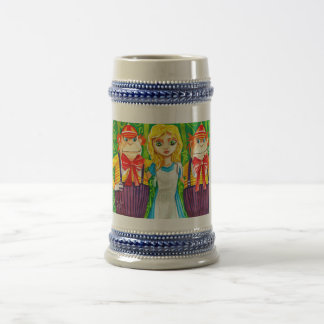ALICE IN WONDERLAND TWEEDLE DUM BEER STEIN