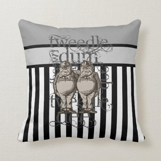 Alice In Wonderland Tweedledum & Tweedledee Grunge Throw Pillow