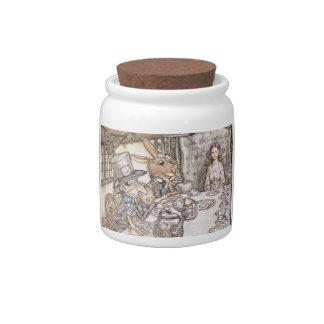 Alice In Wonderland Vintage Art Candy Jar