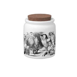 Alice In Wonderland Vintage Art Candy Jars