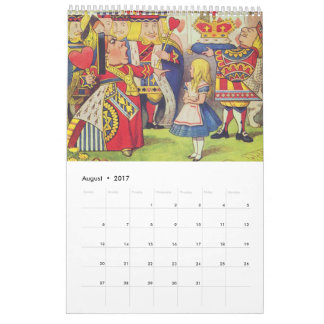 Alice in Wonderland, Vintage Calendar