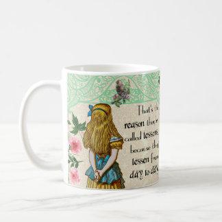 Alice in wonderland, vintage double quote mug