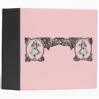 Alice in Wonderland Vintage Frame 3 Ring Binder