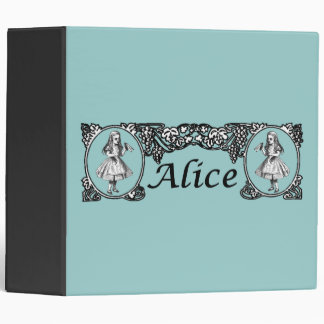 Alice in Wonderland Vintage Frame Binder