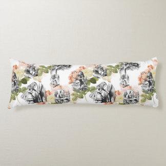 Alice in Wonderland Vintage Roses Body Pillow