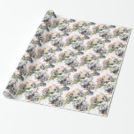 Alice in Wonderland Vintage Roses Wrapping Paper