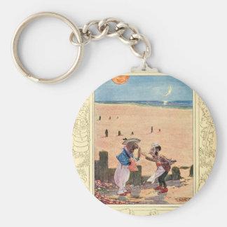 Alice in Wonderland, Walrus and Carpenter Basic Round Button Keychain
